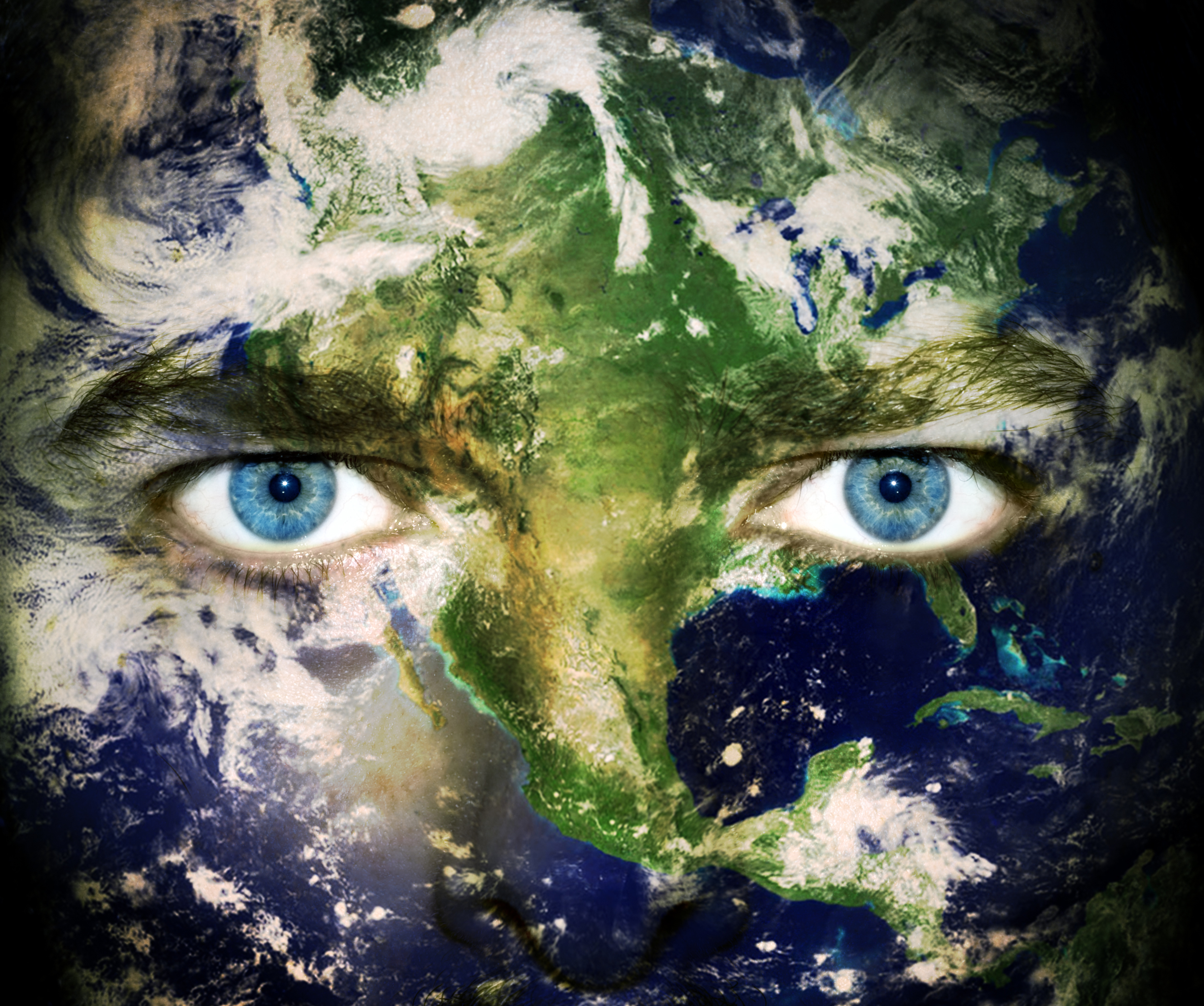 Save the planet - Eyes of Earth Environment concept. Eyes of planet Earth, Copyright by Dunca Daniel at Dreamstime.com-ID7011343